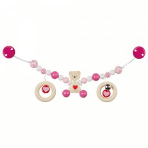 Kinderwagenkette Bär rosa