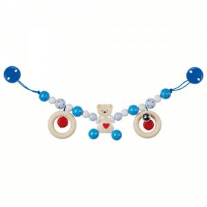 Kinderwagenkette Bär blau