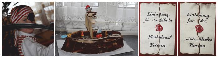Piratenparty Kindergeburtstag Torte