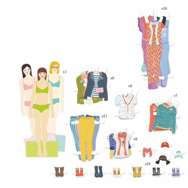 der große Kleiderschrank - Papierpuppen zum Stylen mit vielen