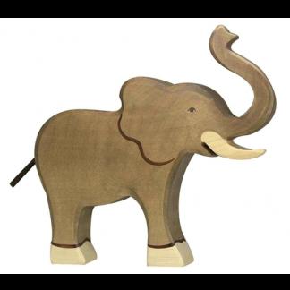 Elefant Rüssel hoch von Holztiger