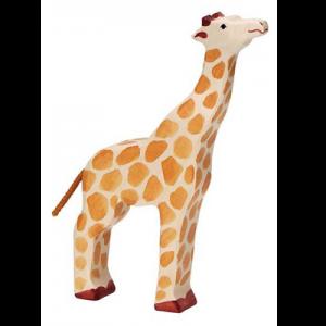 Giraffe groß Kopf hoch von Holztiger