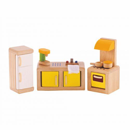 Moderne Küche Aus Holz Für Das Puppenhaus Mit Zubehör