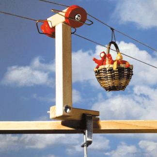 Stütze zur Körbchen-Seilbahn