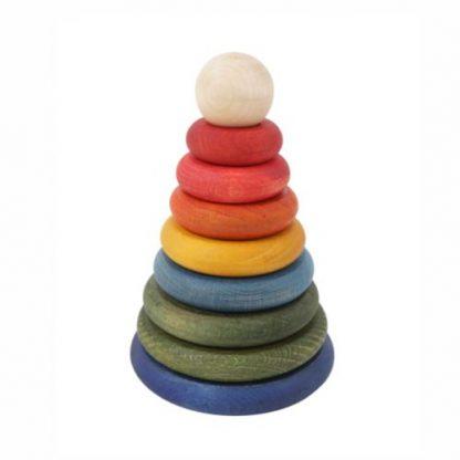 Steckpyramide bunt rund