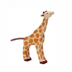 Giraffe klein fressend von Holztiger