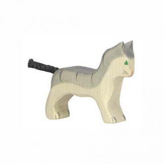 Katze klein grau von Holztiger