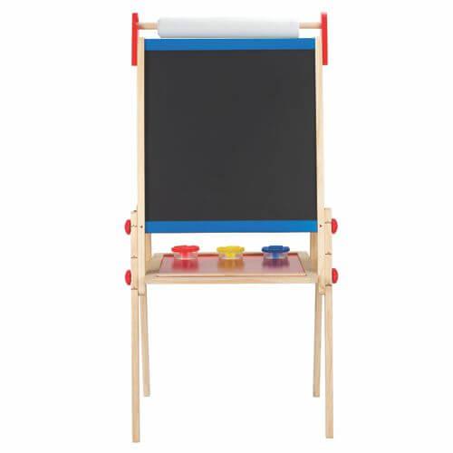 staffelei h henverstellbar magnettafel whiteboard und kreidetafel mit papierrolle. Black Bedroom Furniture Sets. Home Design Ideas