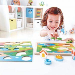 Steckpuzzle Pepe und seine Freunde