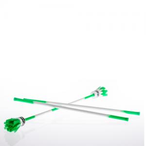 Power Flowerstick mit Handstäben grün/weiß