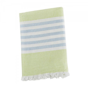 Turkish Towel Badetuch lime green & blue