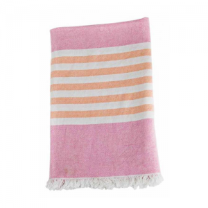 Turkish Towel Badetuch pink & apricot