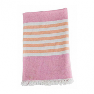 Turkish Towel Badetuch pink & apricot