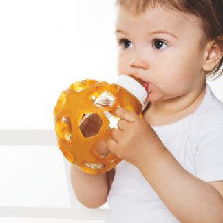 Hevea Babybottle mit Star Ball aus Naturkautschuk