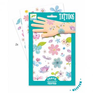 Tattoos Glitzer-Blumen