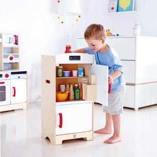 Hape Kühlschrank weiß/rot für die Kinderküche