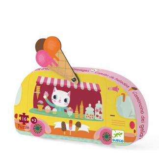 Puzzle Katze im Eistruck