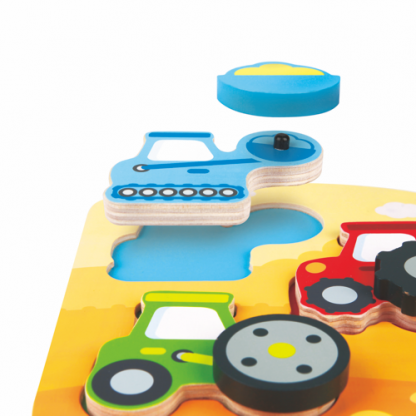 Puzzle bewegliche Fahrzeuge