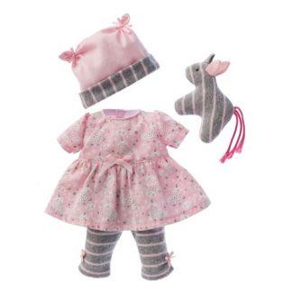 Kleid mit Leggings grau-rosa