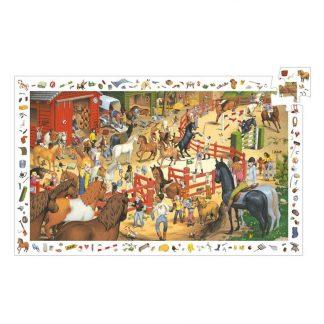 Puzzle Wimmelbild Pferdesport 200 Teile
