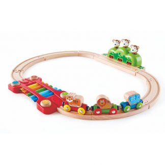 Kleines Tier-Eisenbahnset