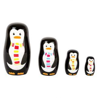Matrjoschka Pinguin Familie