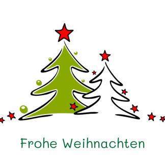 Geschenkgutschein Frohe Weihnachten