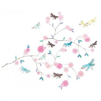 Sticker zum Dekorieren der Wand - Libellen 3D-Effekt