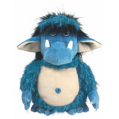 blauer grolliger Troll aus Plüsch