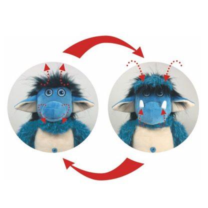 blauer Troll aus Plüsch