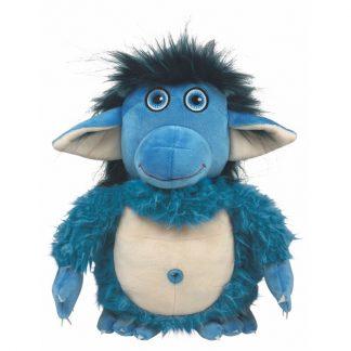 blauer freundlicher Troll aus Plüsch