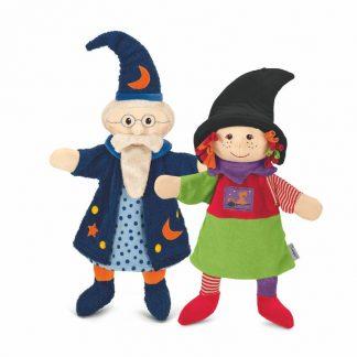Handpuppen Hexe und Zauberer