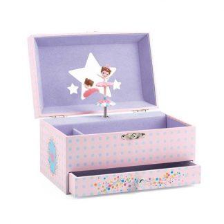 rosa/flieder Box mit drehender Tänzerin und Melodie