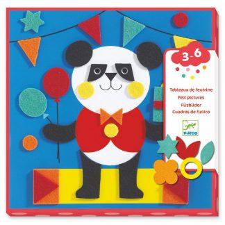 Pandabär mit Filzstickern gestalten