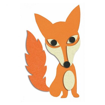 Fuchs Bastelset mit selbstklebenden Filzelementen