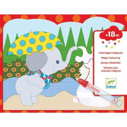 Malen mit Wasser - Elefant, Panda, Hund