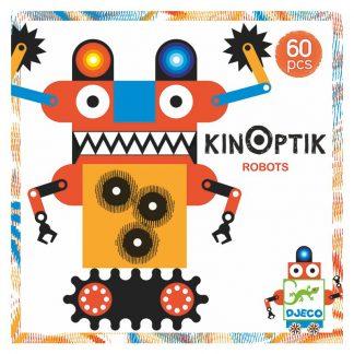 Legespiel mit optischer Täuschung Robotermotive