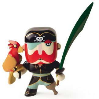 Spielfigur Pirat mit Papagei und Säbel