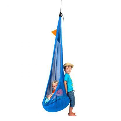 blaue Hängehöhle mit Netzstoff für Kinder von 3 bis 12 Jahren