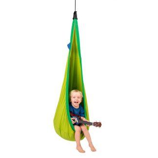 grüne Hängehöhle mit Netzstoff für Kinder von 3 bis 9 Jahren