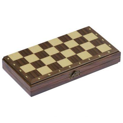 schönes zusammenklappbares Holzschach magnetisch