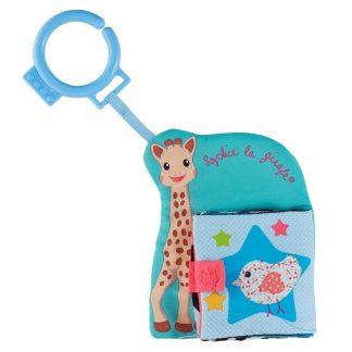 Niedliches Stoffbüchlein mit Sophie la girafe und ihren Freunden