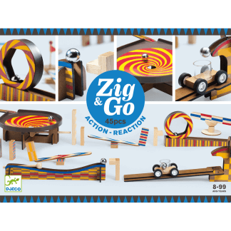 Zig Go Geschicklichkeit Baukasten 45 Teile Box