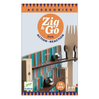 Zig Go Geschicklichkeit Baukasten Fork 14 Teile Box