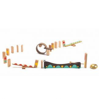 25-teiliger Baukasten Kugelspiel Domino