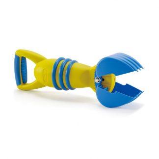 gelb-blauer Greifer Sandspielzeug