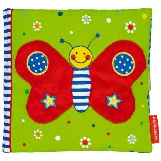 textiles Spielbuch mit Schmetterling