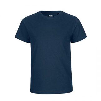 dunkelblaues Kinder T-Shirt aus Biobaumwolle
