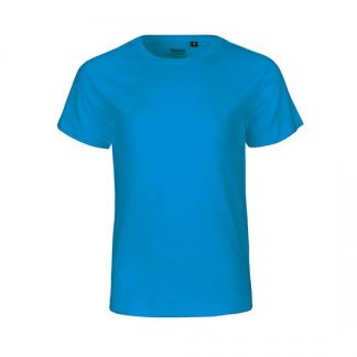 blaues Kinder T-Shirt aus Biobaumwolle