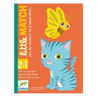 Kartenspiel mit Katze und Schmetterling